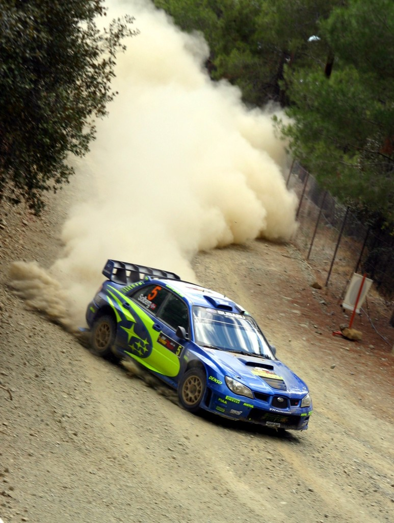 Photos: Leonid Mamchenkov / Wikimedia Commons  Solberg kicks up a plume of dust at Cyprus Rally 2006.