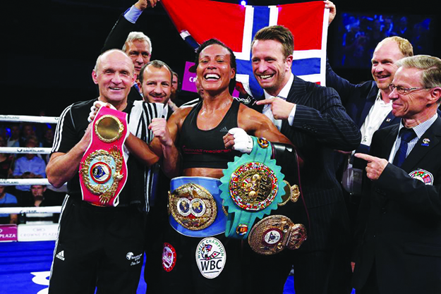 "Photos: ""The First Lady"" Cecilia Brækhus / Facebook After making history she's all smiles."