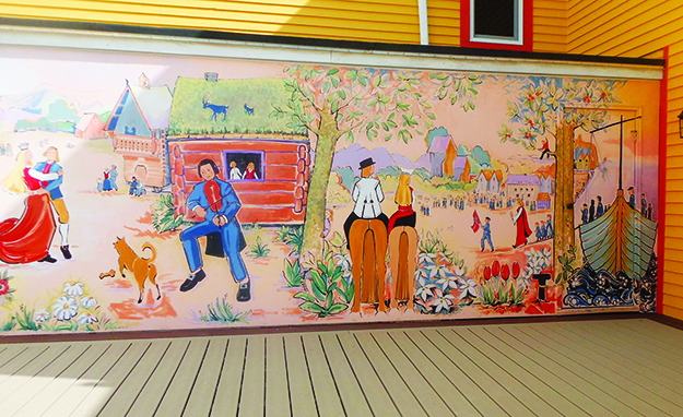 Photo: Dianne Enger Snell One of the murals on the deck at the Giants of the Earth Center in Spring Grove, Minn.