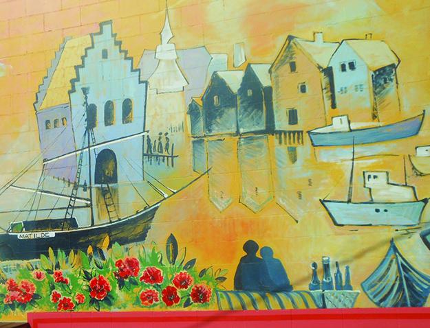 Photo: Dianne Enger Snell Mural by Sallie DeReus in honor of her teacher Sigmund Årseth.