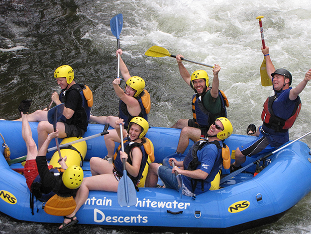Photo courtesy of Even Brande Handel IT employees build teamwork by rafting Wyoming's rivers.