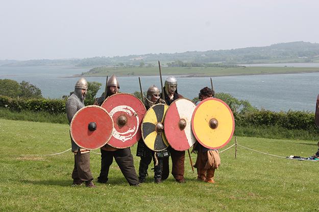 Photo: Ardfern / Wikimedia Commons Viking reenactors at the Magnus Barelegs Viking Festival in Northern Ireland in June 2012. Many Irish cities were Viking Age trading posts.