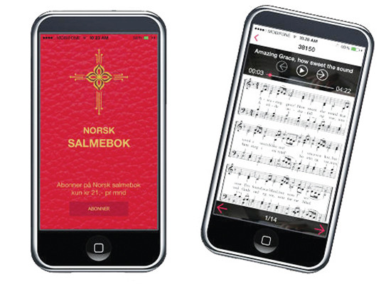 Photo courtesy Norsk Salmebok There's even an app for that! NRK will be airing 60 hours of Norwegian hymns beginning on November 28, and you can follow along at home.