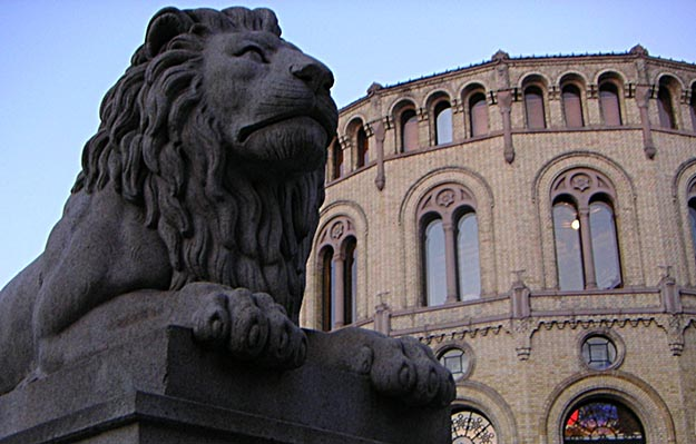 Photo: John Erling Blad / Wikimedia Commons Many of the false base stations were found in the vicinity of Stortinget, Norway's parliament.