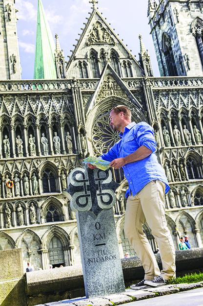 Photo: CH / Visitnorway.com A pilgrim has reached Nidaros.