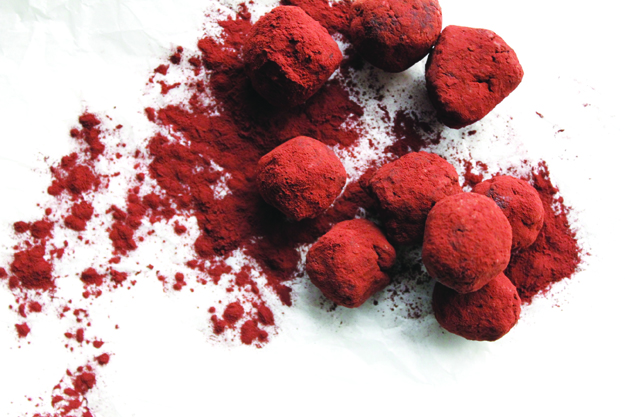 Photo: Whitney Love Truffles, freshly sprinkled in cocoa, are decadent (and gorgeous) without being unhealthy.