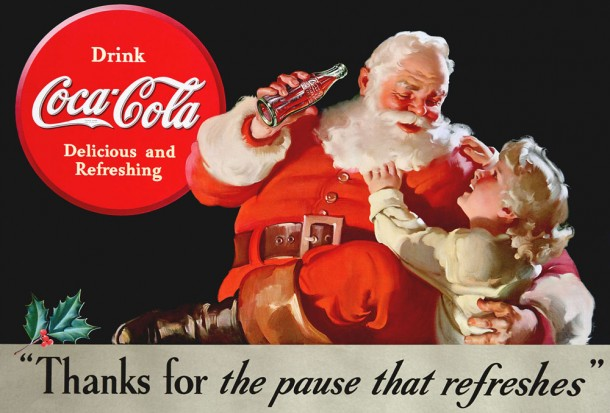 Photo: adbranch.com Ads such as this helped to cement Santa's identity as a jolly, fat, bearded man.