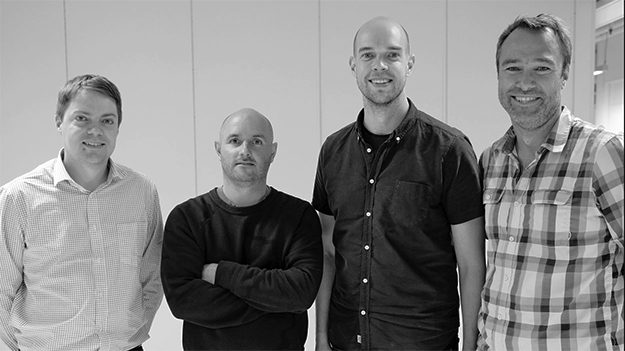 Photo: Kubicam  Kubicam's team, from left to right: Jan Tore Korneliussen, Image Processing SW; Eamonn Shaw, Design & UX; Stein Ove Eriksen, Co-founder & CEO; and Anders Eikenes, Co-founder & CTO.