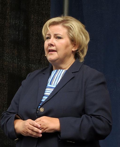 Photo: Nina Aldin Thune / Wikimedia Commons Norwegian Prime Minister Erna Solberg.