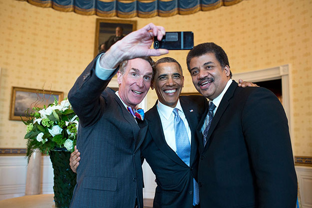 Photo: The White House / Flickr Even the president took a selfie in 2014.