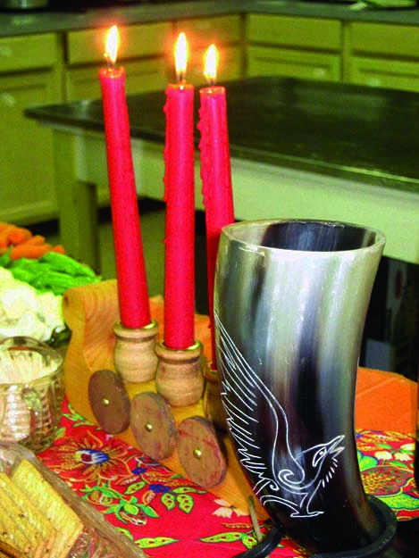 Photos: Bill Solum A Norwegian spread awaited those celebrating Einar's Eagle Scout, and the table was made more lovely by the drinking horn he received from Sons of Norway.