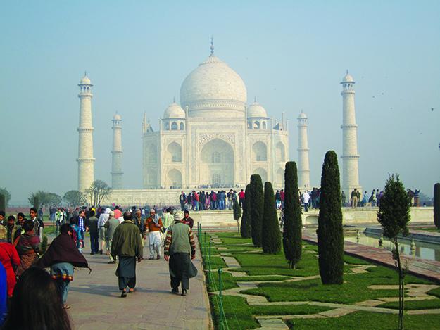 Photo: Thor A. Larsen The incredible Taj Mahal in the morning light.