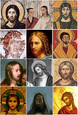 Photo: Wikimedia Commons There is no historical consensus on what Jesus might have looked like. All of the above are portrayals.