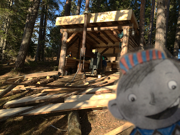 Photo: Heidi Håvan Grosch Flat Stanley enjoys Norway. He even got to visit a gapahuk!