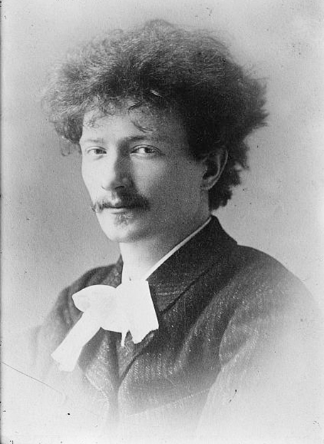 Photo: Library of Congress Paderewski early in his career.