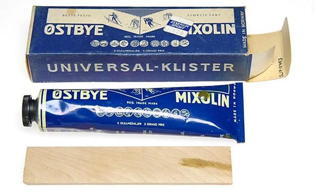 Photo Courtesy of Digitalt Museum Østbye Mixolin Klister (ca. 1965).