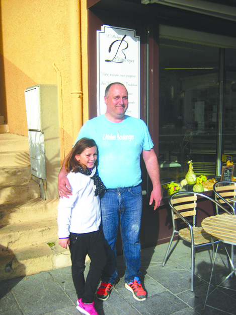 Photo: MM Brady Baker Laurent Boudigue and daughter Valentine (9 years old).