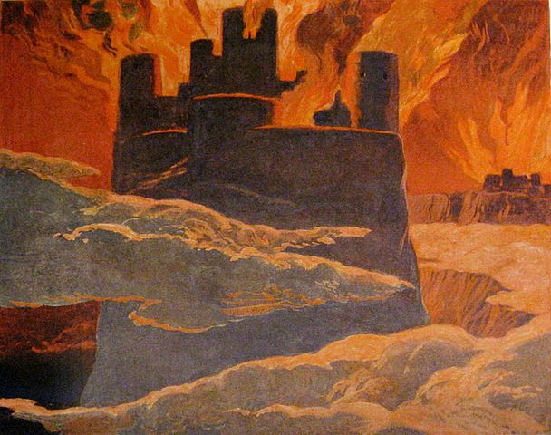 Photo: Wikimedia Commons A scene from the last phase of Ragnarök, after Surtr has engulfed the world with fire. The surrounding text implies that this is Asgard, the home of the gods, burning. But it all turns out okay in the end, we're told. Art by Emil Doepler ca. 1905. Walhall, die Götterwelt der Germanen. Martin Oldenbourg, Berlin. Page 57. U.S. Public Domain