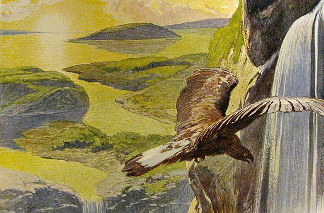 Photo: Wikimedia Commons The post-Ragnarök world in Völuspá. Art by Emil Doepler ca. 1905. Walhall, die Götterwelt der Germanen. Martin Oldenbourg, Berlin. Page 58. U.S. Public Domain