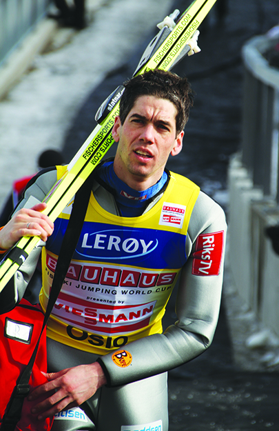 Photo: Bjoertvedt / Wikimedia Anders Bardal at Holmenkollen, Oslo, during FIS World Cup Ski Jumping, March 11, 2012.