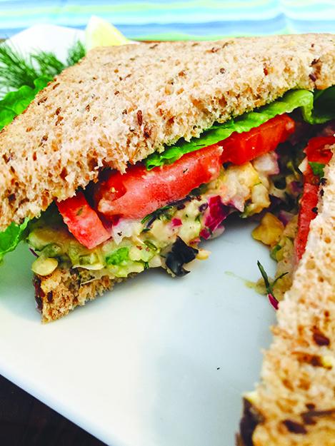 Photo: Sunny Gandara You won't miss the fish in this vegan tuna salad sandwich.