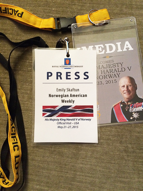 Photo: Emily C. Skaftun Press passes make me feel so official!