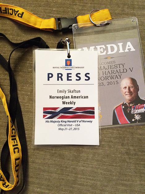 Photo: Emily C. Skaftun Press passes make me feel so official!