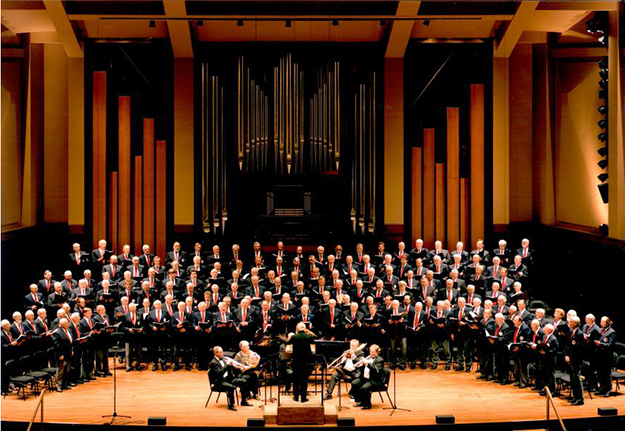 Photo courtesy of the Salem Thorsmen West coast singers gather at a recent Sangerfest in Seattle's Benaroya Hall.