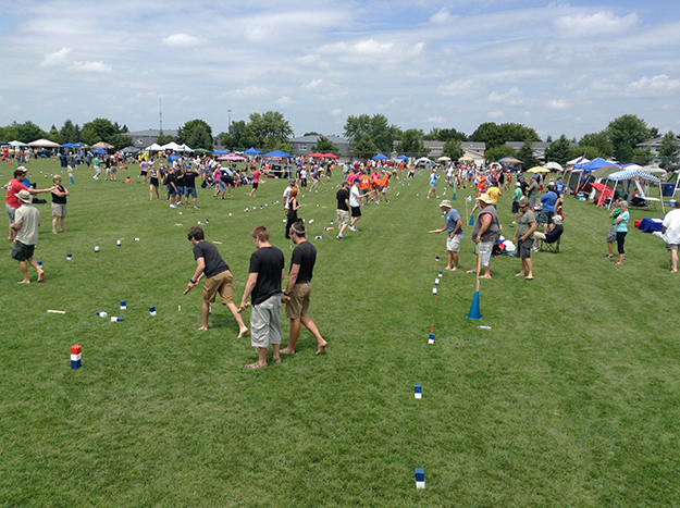 Photo courtesy of the U.S. National Kubb Championship  The ninth annual kubb tournament saw 376 players on 108 teams competing for the title.