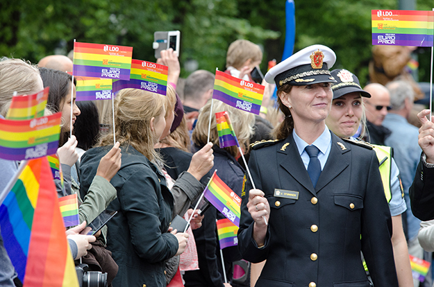 Photo: Bilge Öner / Oslo Pride Oslo Pride 2014 also featured a large and diverse crowd of marchers and spectators.