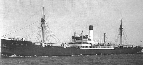 Photo: Wikimedia Commons The MS Rio de Janeiro, a German ship that was sunk just prior to the invasion of Norway.