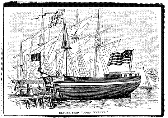 Photo courtesy of the Norwegian Immigration Association Before moving to a permanent building, the Bethel Ship church served Norwegian sailors.