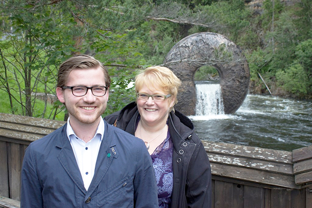 Photo courtesy of Venstre Two Venstre members of the Storting, Sveinung Rotevatn (left) and party chairperson Trine Skei Grande (right).