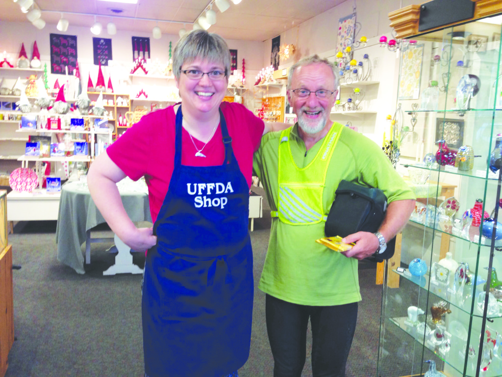 Photos: Per Walmsness In Red Wing, Minn., the pair stopped at the Uff Da Shop and were grateful to speak a little Norwegian.