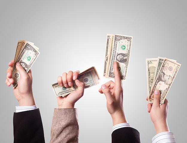 Photo: 401kcalculator.org Money talks in politics.
