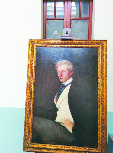 Photo: James Stuart Osbourn A self-portrait of a young Andersen, one of over 200 paintings bequeathed to the Italian government upon Andersen's death along with his villa.