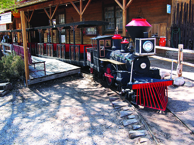 Photo: rickpilot_2000 / Flickr The miniature train at Bonnie Springs Ranch will transport you to the old-fashioned ghost town.