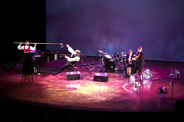 Photo: Benedicte Bjerknes, Royal Norwegian Embassy Johannessen reached great heights in this impressive Halling Dance.