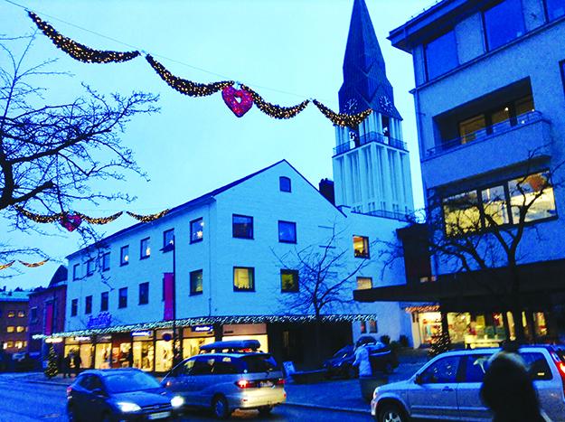 "Photo: John Barry Blåtimen, the ""blue hour,"" on the winter solstice in Molde."