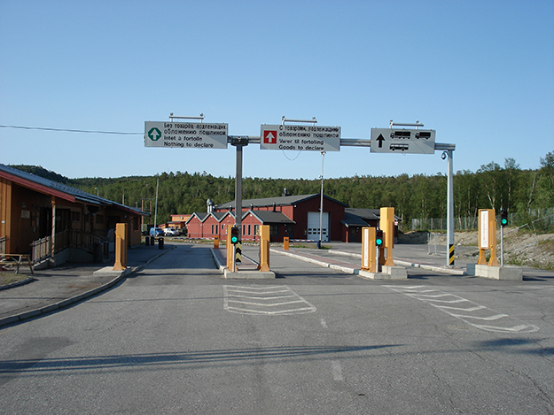 Photo courtesy of Norwegian Directorate of Customs and Excise Storskog border control station, the only crossing between Norway and Russia.