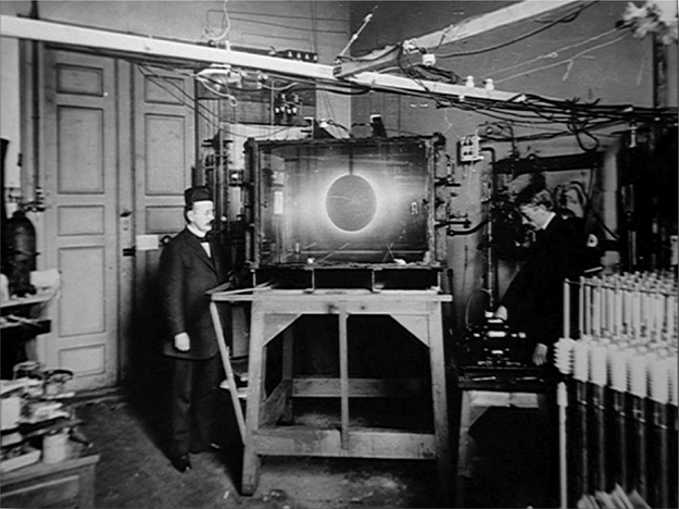 Photo courtesy of Pål Brekke Kristian Birkeland with his Terella experiment that proved the modern understanding of the Northern Lights' mechanism.