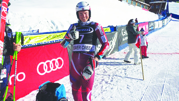 Photo: Tommy Barstein / NRK Kristoffersen gives a thumbs up after a successful run at Beaver Creek.