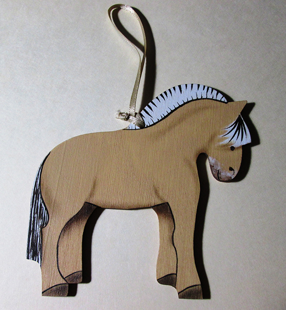 Photo: Christine Foster Meloni Rosemaler Tina Keune created a special fjord horse ornament, available for purchase by emailing rkeune@earthlink.net.