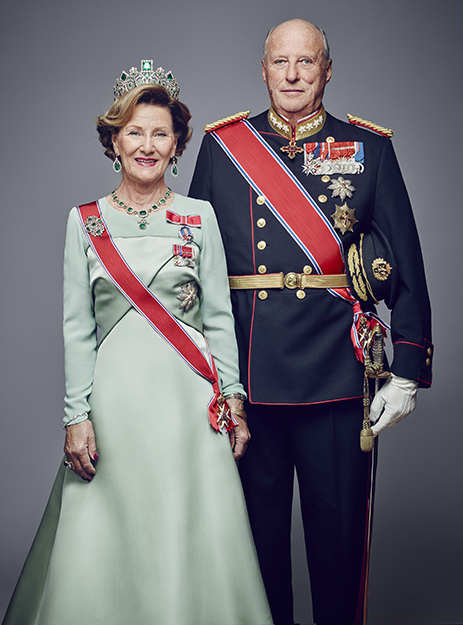 Photo: Jørgen Gomnæs, Det kongelige hoff Their Majesties King Harald V and Queen Sonja.