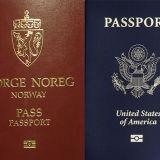 Norwegian and American passports.