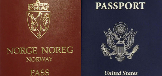 Norwegian and American passports.