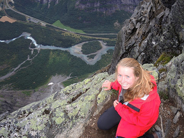Photo courtesy of Sarah Taylor One of the many cliff's-edge photos that Taylor has sent home to her parents.