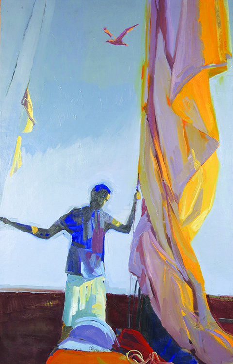 Image courtesy of Kamilla Talbot Slow Flight, 2015, oil on linen, 50 x 32 inches.