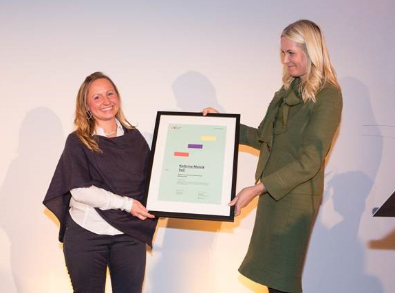 Photo courtesy of Kathrine Molvik  Kathrine Molvik, Female Entrepreneur of the year.