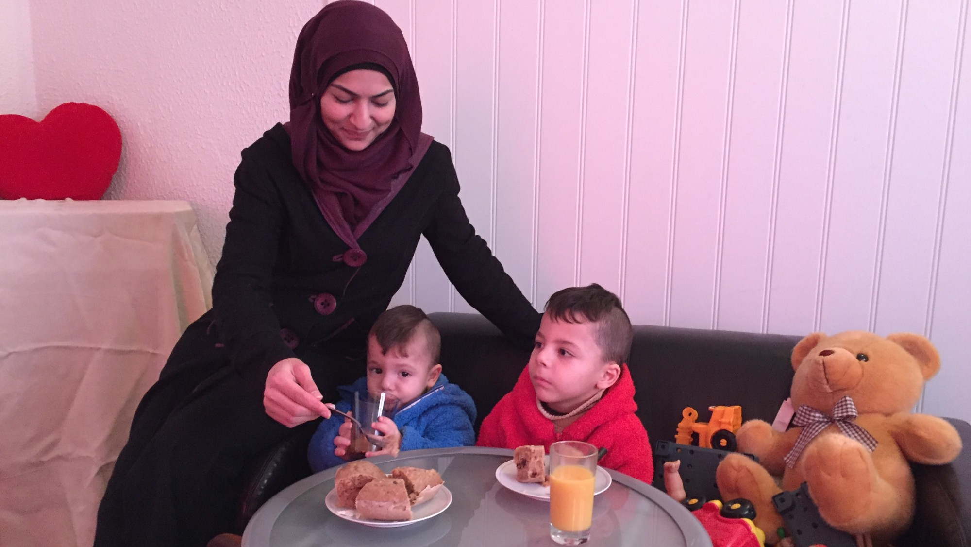 Photo: Jorun Vang / NRK Heba was a teacher in Syria; now she dreams of a teaching job in Norway.
